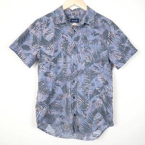 Place Tropical Hawaiian Button Front Shirt Palms